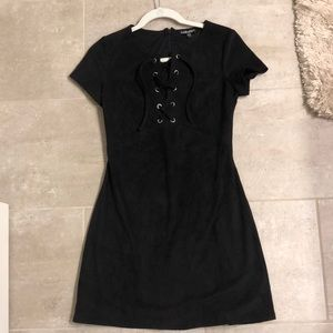 Express Black suede dress